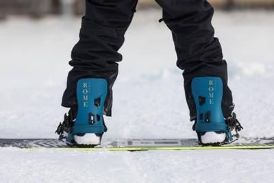 Klassische Snowboardbindung